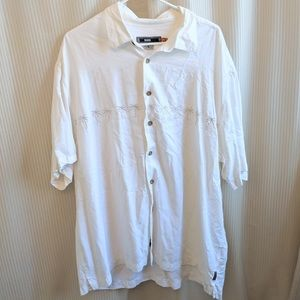 Quicksilver Embroidery Button Down Shirt